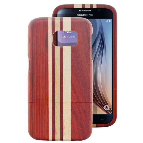 Skque® Handmade Natural Wooden Case for Samsung Galaxy S6, Maple and Red Wood