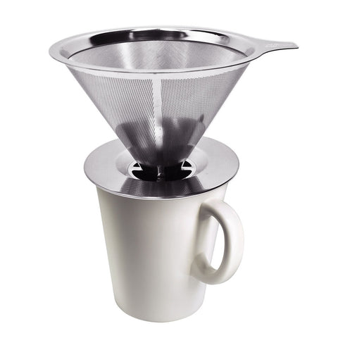 Pour Over Coffee Maker, Skque® Stainless Steel Pour Over Coffee Dripper, Permanent Reusable Stainless Steel Coffee Filter