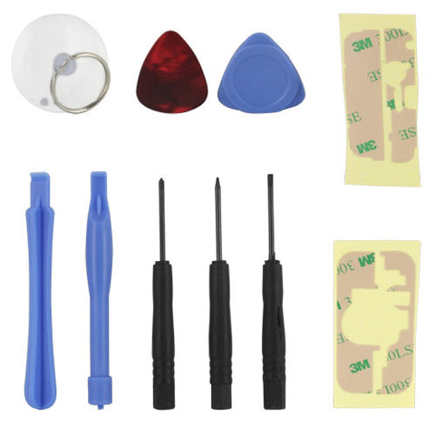 Skque 10 in 1 Opening Pry Screwdriver Repair Tools Kit Set for Apple iPhone 4 4S 3G 3GS iPod Touch