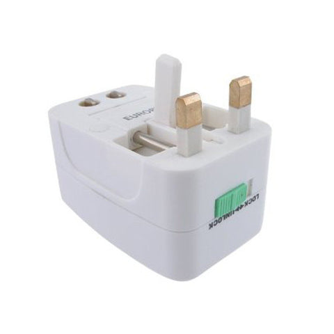 Skque White Universal World Wide Travel Charger Adapter Plug