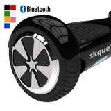 "Skque® 6.5"" Two Wheel Smart Self Balancing Electric Scooter with Wireless Bluetooth Speaker and LED Lights, Black"