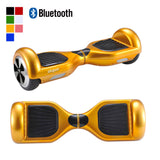"Skque® 6.5"" Two Wheel Smart Self Balancing Electric Scooter with Wireless Bluetooth Speaker and LED Lights, Gold"