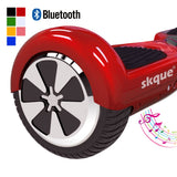 "Skque® 6.5"" Two Wheel Smart Self Balancing Electric Scooter with Wireless Bluetooth Speaker and LED Lights, Red"