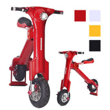 Skque® K Series Foldable Electric Bike Scooter, Red