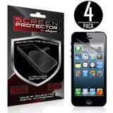 Skque 4PCs Anti Glare Screen Protector for Apple iPhone 5