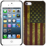 Apple iPhone 5/5S Vintage US Flag Pattern PCcase