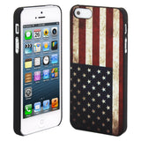 Skque Vintage US Flag Pattern PC Protector Back Case Cover for Apple iPhone 5/5S