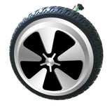 "Skque® 8"" Electric Motor with Solid Tire for 2 Wheel Self Balance Scooter, 5 Leafs with Dot"