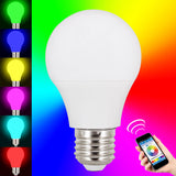 Skque® 4.5W Bluetooth Smart LED Dimmable Multicolored Wireless Light Bulb E27 Tip