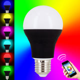 Skque® 7.5W Bluetooth Smart LED Dimmable Multicolored Wireless Light Bulb E27 Tip