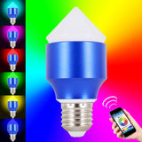 Skque® 6W Bluetooth Smart LED Dimmable Multicolored Wireless Light Bulb E27 Tip
