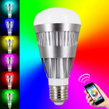 Skque® 10W Bluetooth 4.0 Smart LED Dimmable Multicolored Wireless Light Bulb E27 Tip