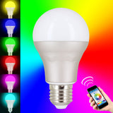 Skque® 7.5W WiFi Smart LED Dimmable Multicolored Wireless Light Bulb E27 Tip