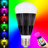 Skque® 10W WiFi Smart LED Dimmable Multicolored Wireless Light Bulb E27 Tip
