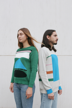 Load image into Gallery viewer, Green Hey / Laser Sweater