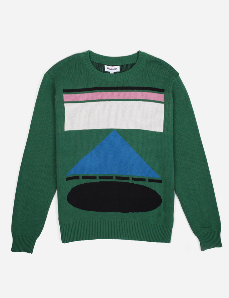Green Hey / Laser Sweater