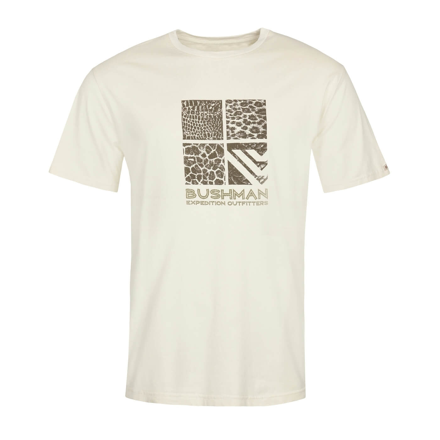 BUSHMANSHOP PEKIN MEN'S CREAM EXPEDITION COTTON T-SHIRT