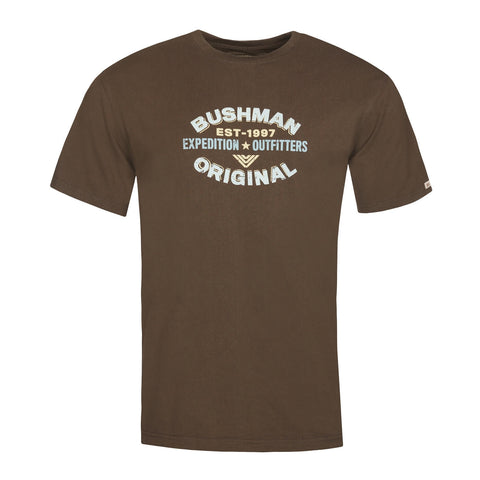 BUSHMANSHOP PEKIN MEN'S BROWN EXPEDITION COTTON T-SHIRT