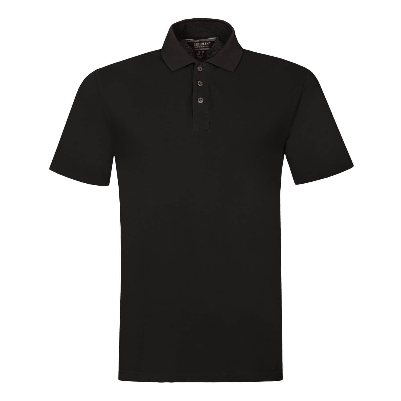BUSHMANSHOP BROCKET MEN'S RED BLACK COTTON POLO T-SHIRT