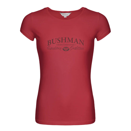 BUSHMANSHOP ESKA WOMEN'S RED SHORT SLEEVE T-SHIRT
