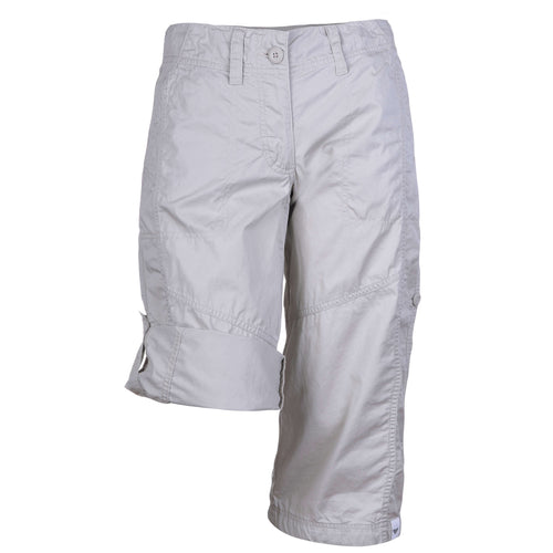 BUSHMANSHOP TANZANIA WOMEN'S BEIGE COTTON ADJUSTABLE CARGO SHORTS