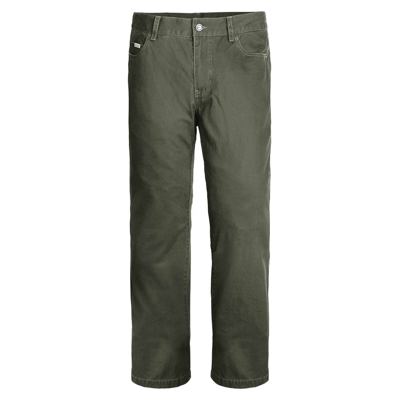 BUSHMANSHOP BASTROP MEN'S BROWN COTTON HEAVY DUTY PANTS