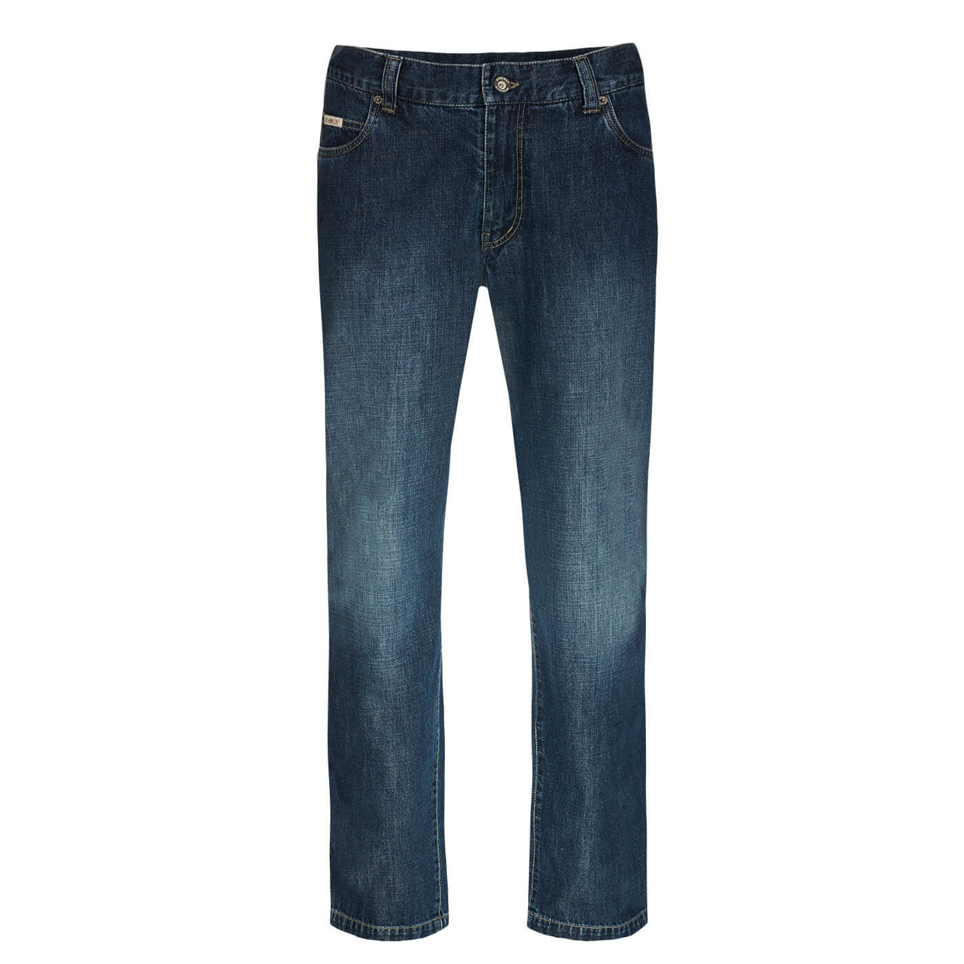 BUSHMANSHOP FRANKLIN MEN'S BLUE COTTON JEANS TROUSERS