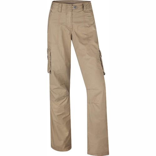 BUSHMANSHOP CAILYN WOMEN'S SANDY BROWN COTTON ADJUSTABLE PANTS