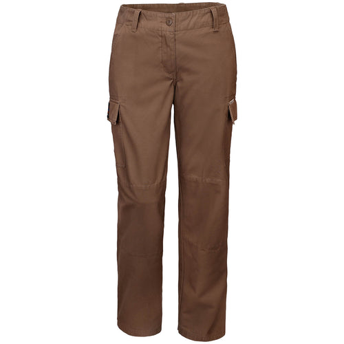 BUSHMANSHOP ALOMA WOMEN'S BROWN COTTON CARGO PANTS