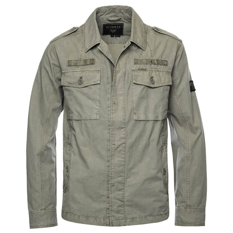 BUSHMANSHOP DETROIT MEN'S KHAKI SAFARI LIGHT JACKET