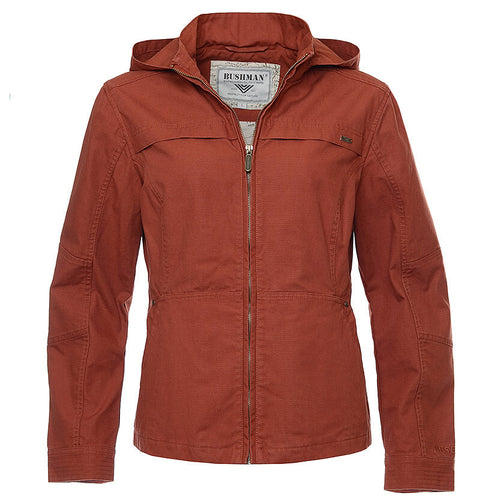 BUSHMANSHOP ZAMBIA WOMEN'S ORANGE COTTON CANVAS JACKET