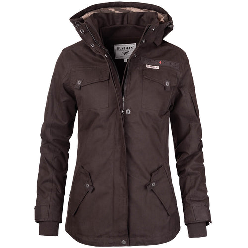 BUSHMANSHOP AGRICOLA WOMEN'S MEMBRANE WATERPROOF DARK BROWN JACKET
