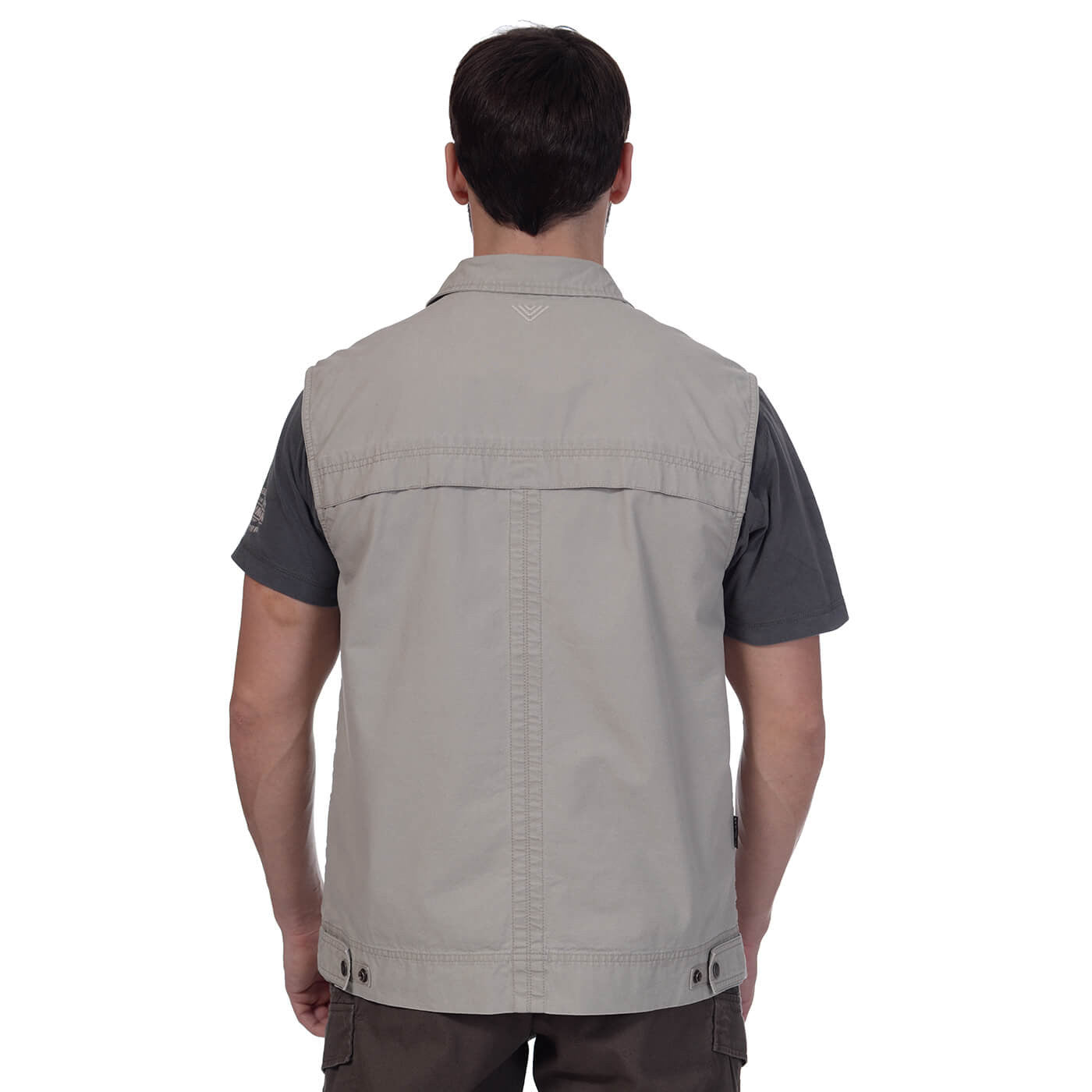 BUSHMANSHOP ARGAY MEN'S COTTON SAFARI VEST WITH POCKETS