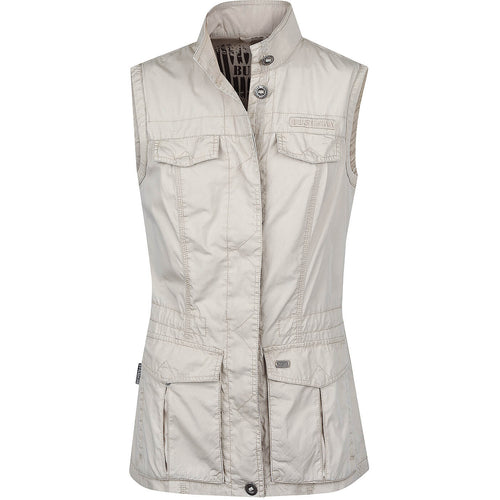 BUSHMANSHOP CENTELLA WOMEN'S BEIGE COTTON SAFARI VEST