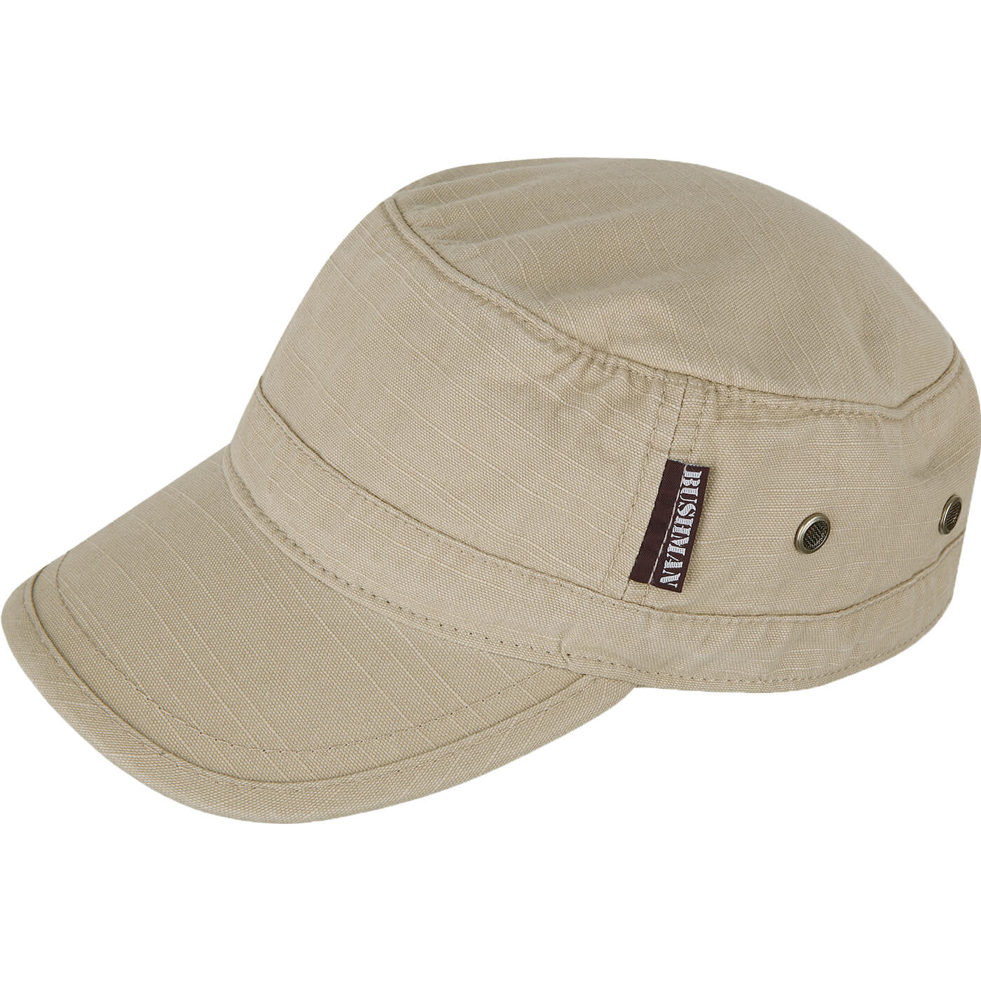 BUSHMANSHOP DAIMLER BEIGE/OLIVE/STONE/BROWN ARMY STYLE VENTILATED COTTON CAP