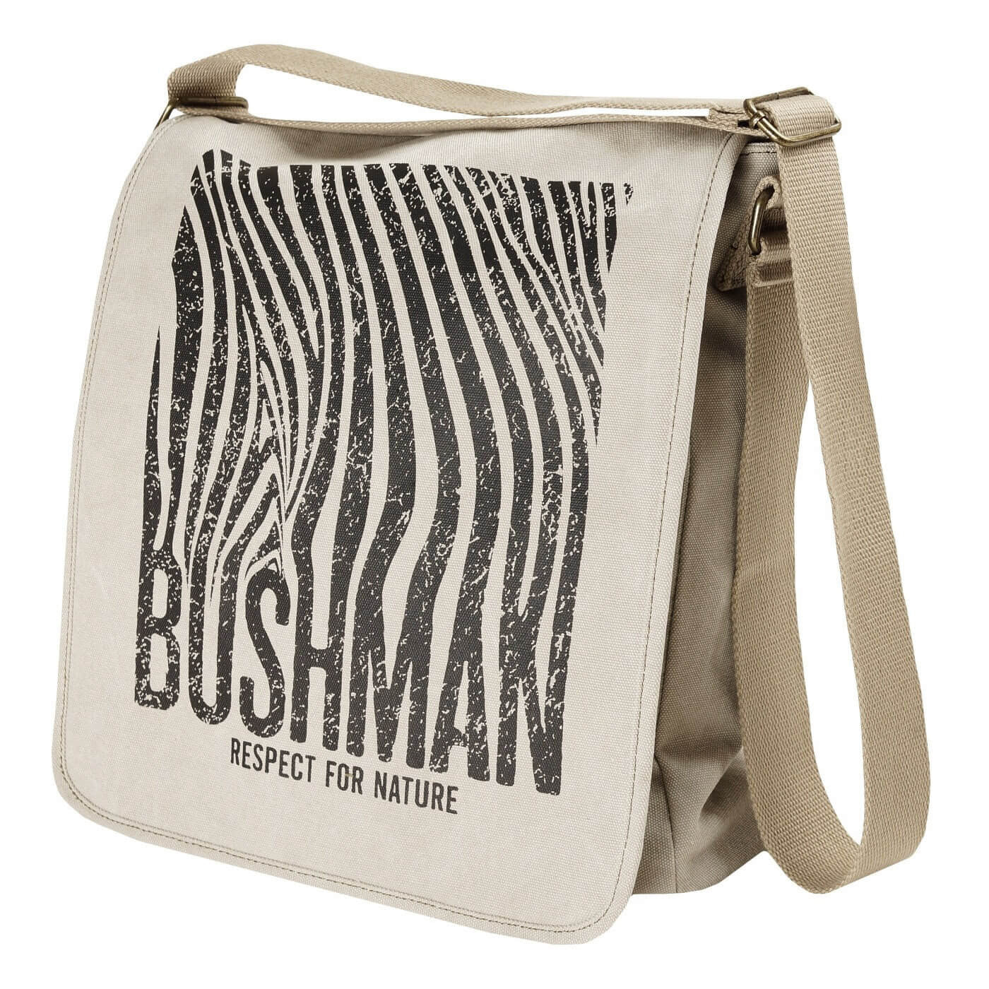 BUSHMANSHOP ALTAR BEIGE/KHAKI LAPTOP CANVAS BAG