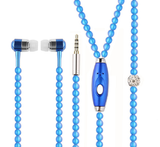 Fashionable Jewelry Pearl Necklace Earphones with Mic Connect to Smart Phone