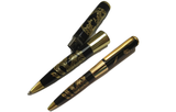 Fancy Ballpoint Pen with 32GB Flash Memory (Black with Golden Inscription))