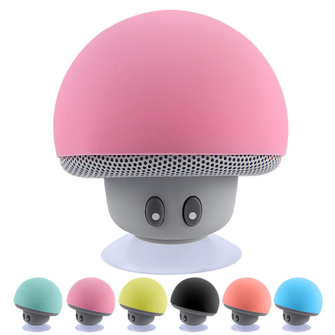 Wireless Mini Bluetooth Speaker. Portable Mushroom Style. Waterproof Stereo Speaker With Mic for Mobile Phone & Computer