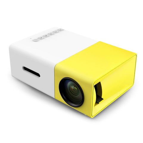 YG300 LED Home Media Player. Portable Projector 500LM 3.5mm Audio 320x240 Pixel HDMI USB.