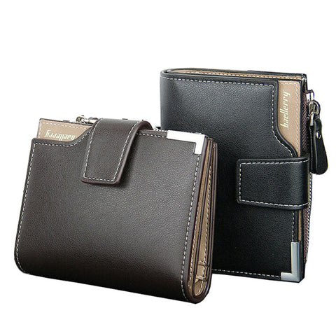 Leather Bifold Wallet for Men. Card Holder & Coin Purse Pockets With Zipper