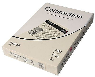 160 gsm A5 Coloraction tinted printer copier paper x 500 sheets - PALE  IVORY