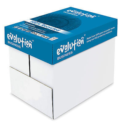 A4 120gsm Evolution 100% RE-CYCLED Paper White x 250 per packet - Multi Listing