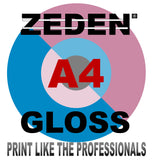 Our Zeden Gloss Range of Paper for LASER & DIGITAL PRINTERS in A5 A4 SRA4 A3 and SRA3