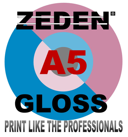 A5 Bulky Gloss Paper 100 GSM for Laser & Digital Printers x 500 Sheets by Zeden