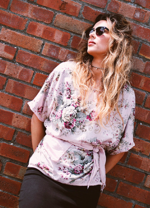 Flowery summer top