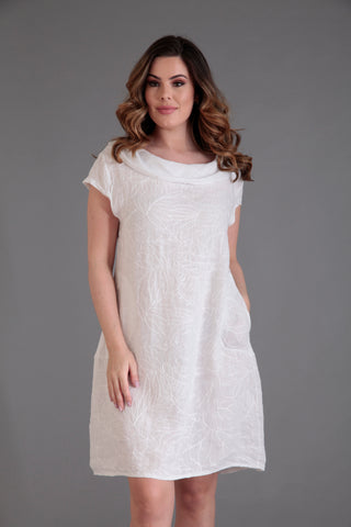 white linen dress by Goose Island