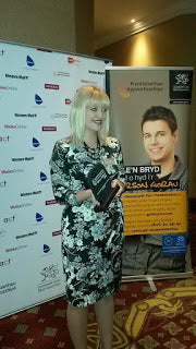 Helen Brickley awarded 'Outstanding Achiever of the Year'  Apprenticeship Awards Cymru 2014