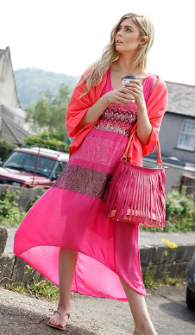 Pink dress summer fashion