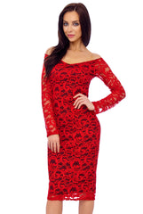 Goose Island red lace dress